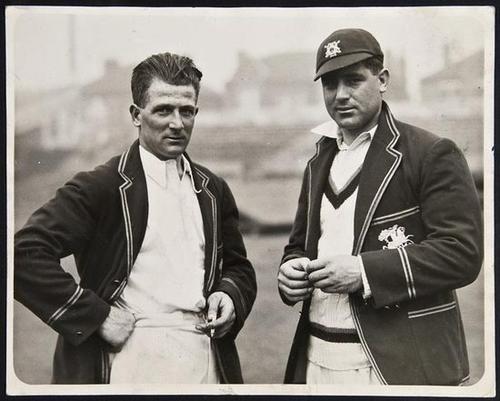 12: Cricket.- Larwood (H.) & Voce (W.), 'Press Pho