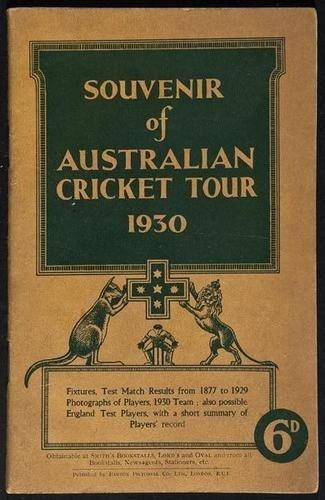 18: Cricket.- Souvenir of Australian Cricket Tour