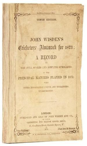 21: Wisden (John) Cricketers' Almanack, 1873