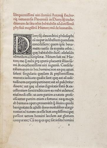 8: Dionysius Periegetes. Cosmographia sive de situ Or