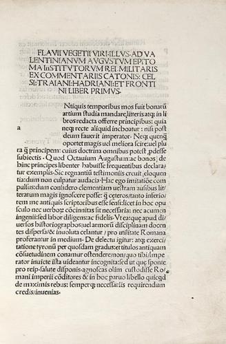 12: Vegetius Renatus (Flavius) de re Militari