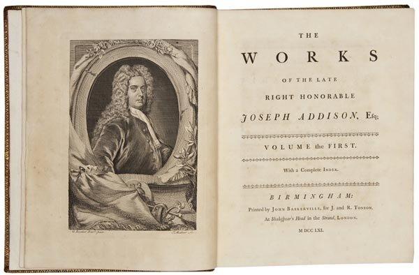 1001: Addison (Joseph) The Works