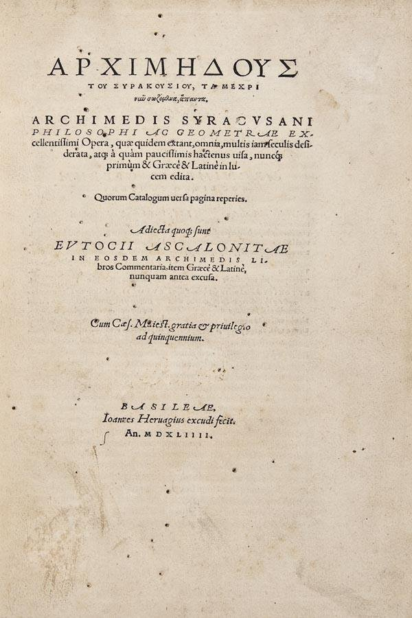 1008: Archimedes. Opera