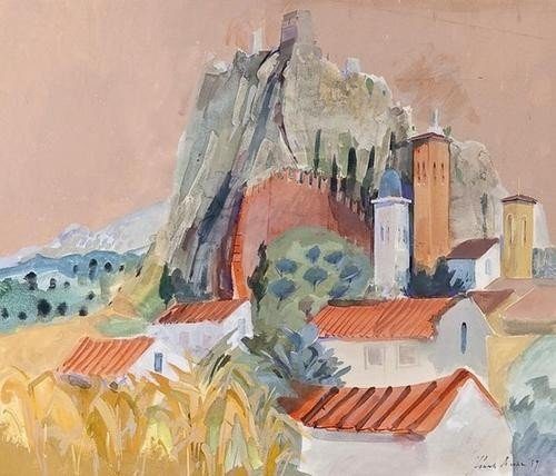 2: DDS Frank Archer (b.1912), Landscape near Bologna