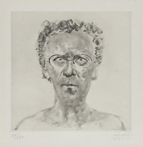 3: Avigdor Arikha (1929-2010), Self-Portrait, etching