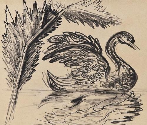 7: John Banting (1902-1972), Broken Feather, black in