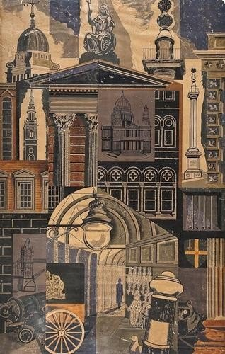 9: Edward Bawden (1903-1989), City, offset lithograph