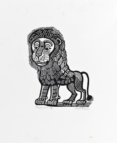 10: Edward Bawden (1903-1989), Hungry Lion, linocut, s