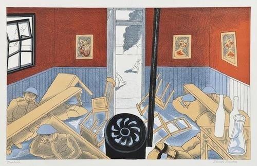 11: Edward Bawden (1903-1989), Dunkirk, lithograph pri