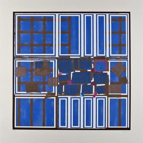 22: Sandra Blow (1925-2006), Blue & Brown Interweave,