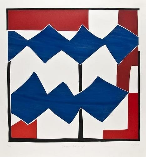 23: Sandra Blow (1925-2006), Double Diamond, silkscree