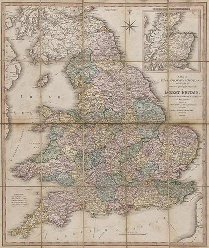 4: BBRI Faden (William) A Map of England, Wales, &amp