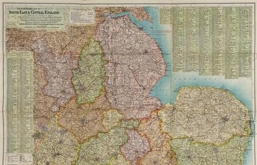 18: BENG Richardson's Map of South East and Central En