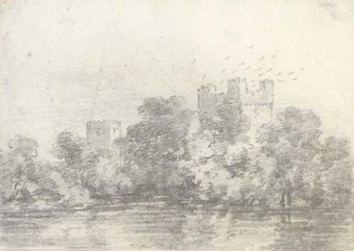 5B: Beaumont (Sir George, 1753-1827) pencil drawing,