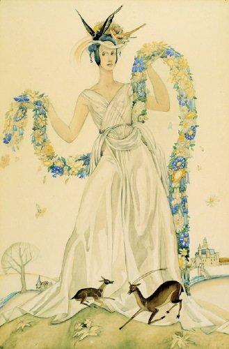 15B: Burleigh (Averil Mary, d.1949) watercolour over p