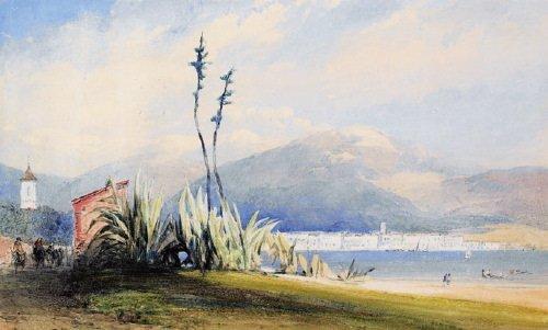 17B: Callow (William, 1812-1908) watercolour, 208 x 34
