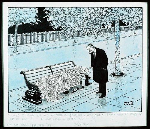 19B: Caricature.- Jackson (Raymond Allen b.1927-), 'JA