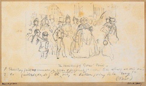 22B: -. Leech (John, 1817-1864) two pencil cartoon dra