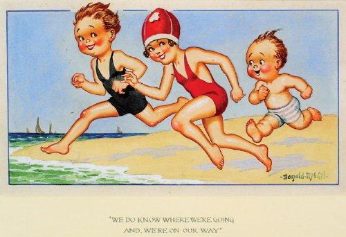 24B: -. McGill (Donald, 1875-1962) watercolour with bo
