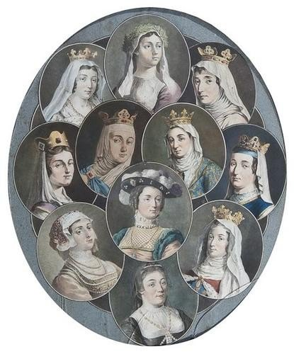 1: 18th Century French School A group of portraits of