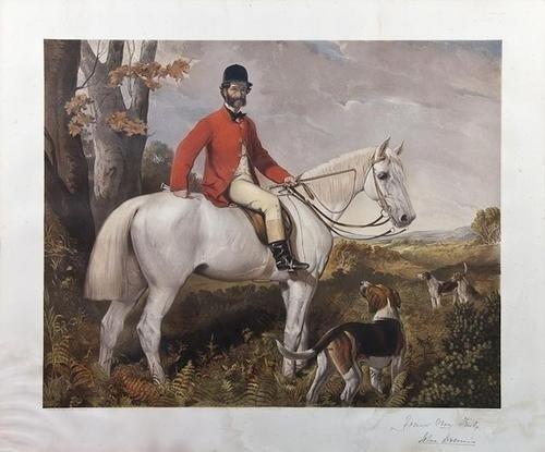 5: After Henry Richard Graves Equestrian portrait of