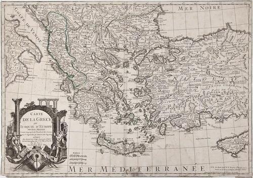14: Guillaume De l'Isle Carte de la Grece ou Turquie d