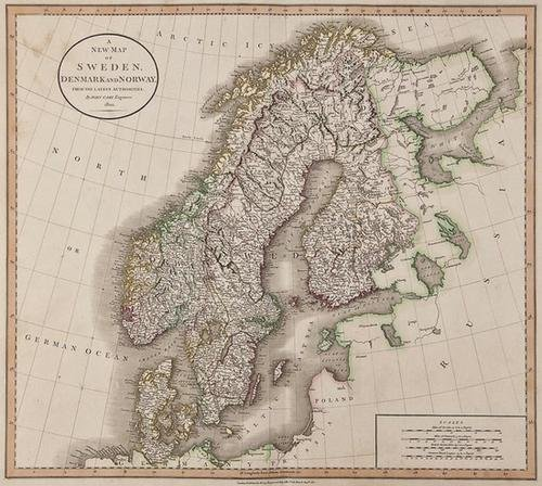 15: John Cary A New Map of Sweden, Denmark and Norway
