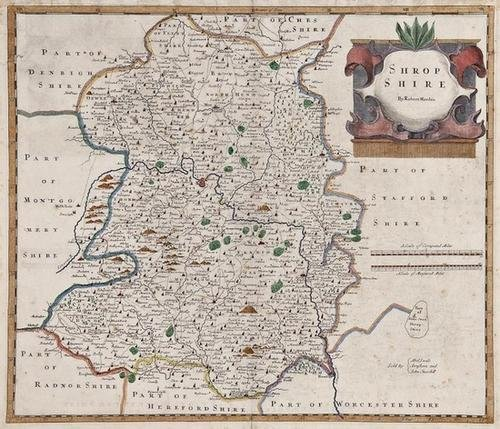 16: A mixed group of maps of Herefordshire, Glouceste
