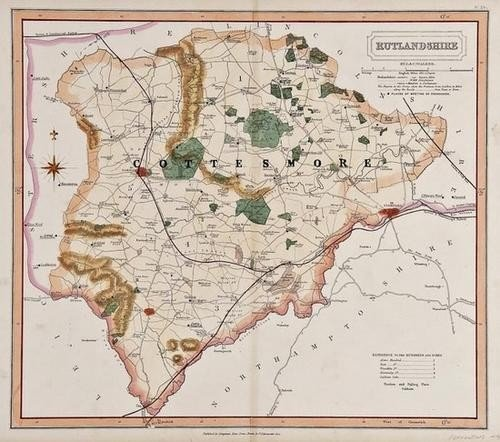 18: A mixed group of maps of Leicestershire, Rutland