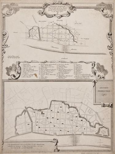 19: A small, mixed group of London city and ward plan