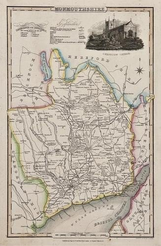 21: Wales.- A small, mixed group of county maps