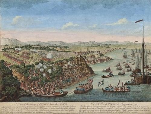 391: [John Bowles] A View of the Taking of Quebec
