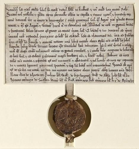 1: Nottinghamshire.- Rufford Abbey. Charter, grant by