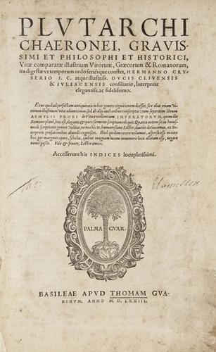 159: Plutarch. Vitæ Comparatæ illustrium Virorum, Græco