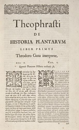 160: Theophrastus. Graece & Latini Opera Omnia. Daniel
