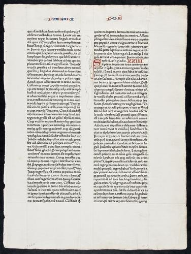 2: Latin. [Bible], single leaf, [from Jeremiah], doub