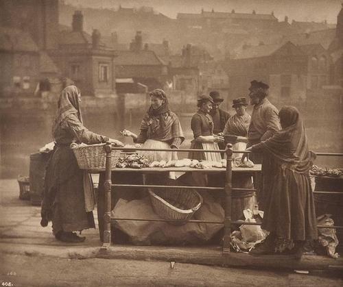 6: Frank Meadow Sutcliffe (1853-1941) Fish stall, Whi