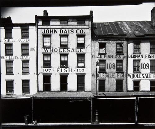 77: Walker Evans (1903-1975) Fulton Market Area, New Y