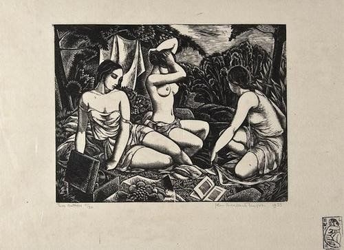 17: John Buckland-Wright (1897-1954) Three Bathers (B.