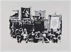 323: Banksy (b.1975) Morons - White