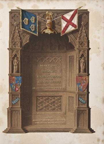 453: (Sir Nicholas Harris) History of the Orders of Kni