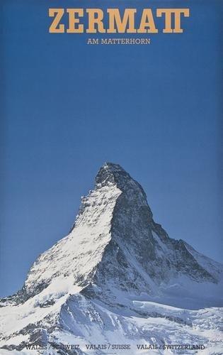 1: ANONYMOUS ZERMATT,am Matterhorn offset lithograph