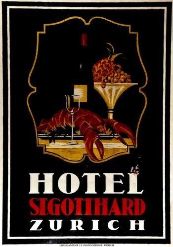 2: BAUMBERGER, Otto (1889-1961) HOTEL ST. GOTTHARD li