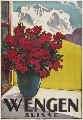 4: ERNST, Otto (1884-1967) WENGEN, SUISSE lithograph