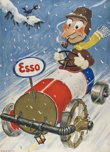 10: LAUBI, Hugo (1888-1959) ESSO lithograph in colours