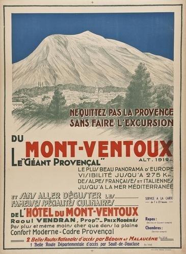 13: ANONYMOUS MONT-VENTOUX lithogaph in colours, print