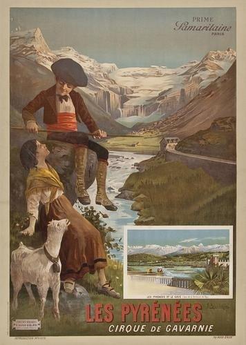 15: D'ALESI, F. Hugo (1849-1906) LES PYRNES lithogra
