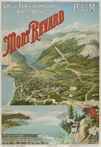 16: D'ALESI Hugo MONT-REVARD, PLM lithograph in colour