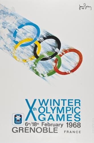 17: BRIAN, Jean (b.1915) Xth  WINTER OLYMPIC GAMES off