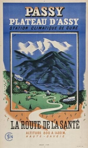 20: CHAB PASSY, plateau d'Assy lithograph in colours,